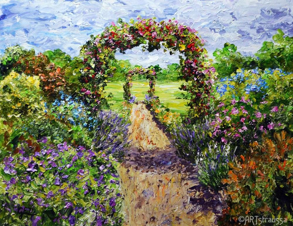 """""""Gillian's Arches"""" original fine art by Gloria Ester"""
