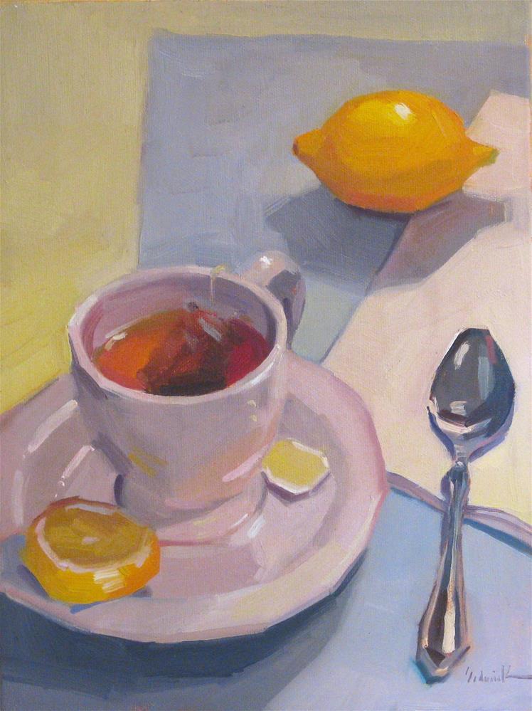"""Tea With A Spoon"" original fine art by Sarah Sedwick"