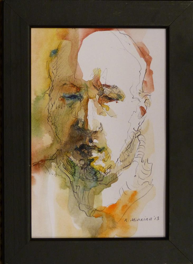 """Cafesketch8"" original fine art by Katya Minkina"