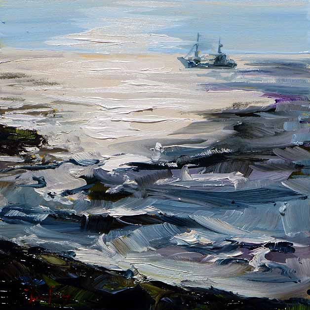 """""""Fischerboot"""" original fine art by Jurij Frey"""