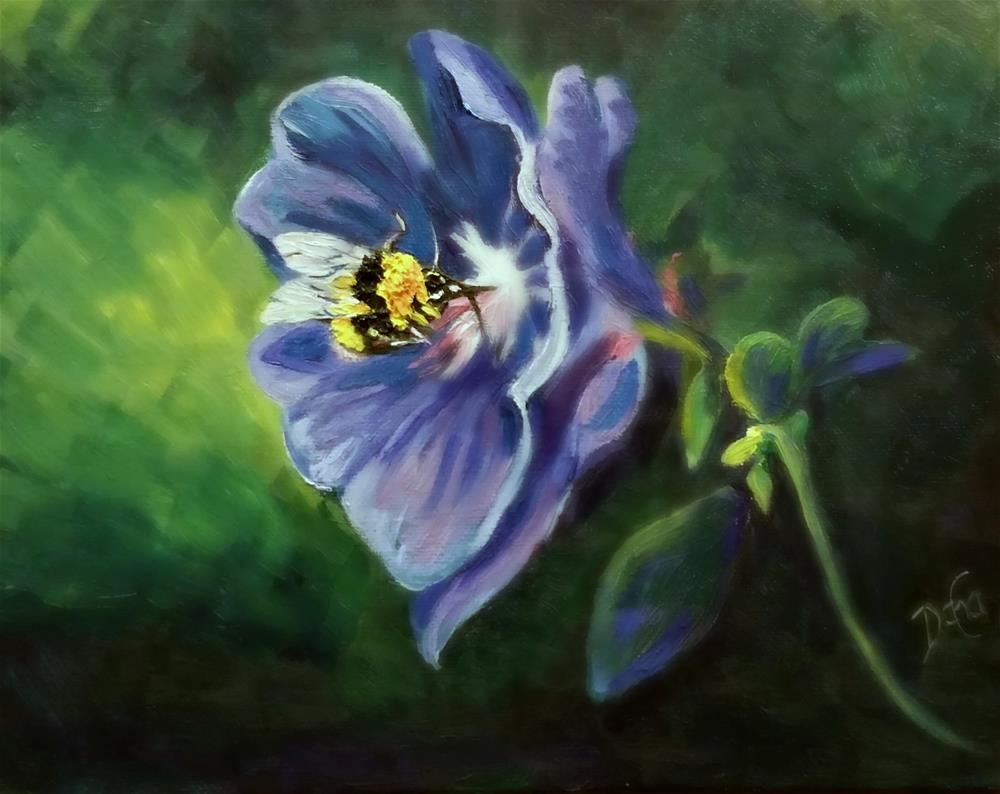 """BEE HAPPY"" original fine art by Dana C"