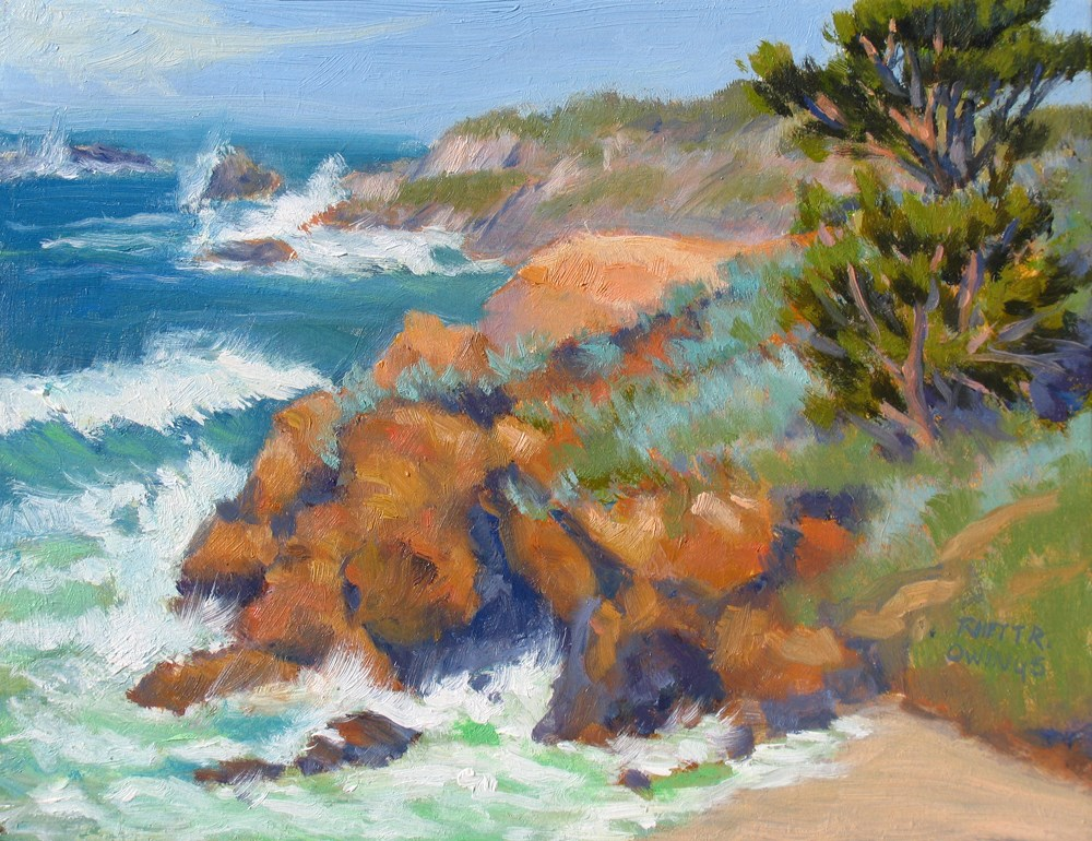 """Stormy Sea"" original fine art by Rhett Regina Owings"