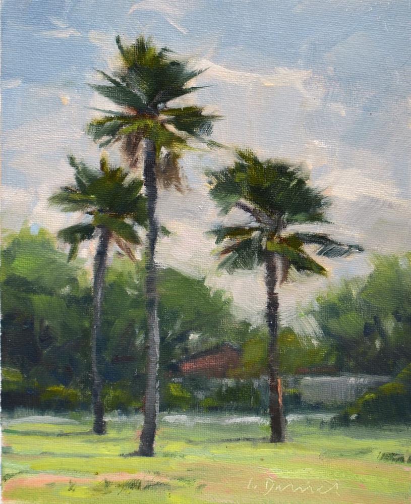 """Three Palms - Demo and Process Notes"" original fine art by Laurel Daniel"