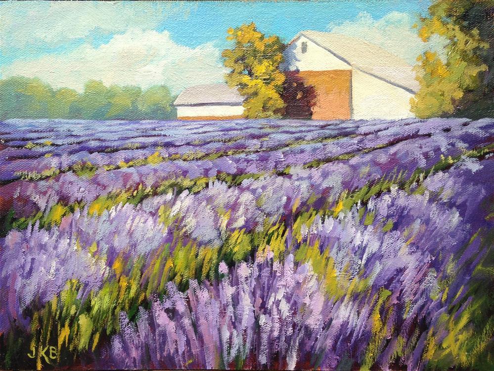 """""""Lavender Glow"""" original fine art by Jeanne Bruneau"""
