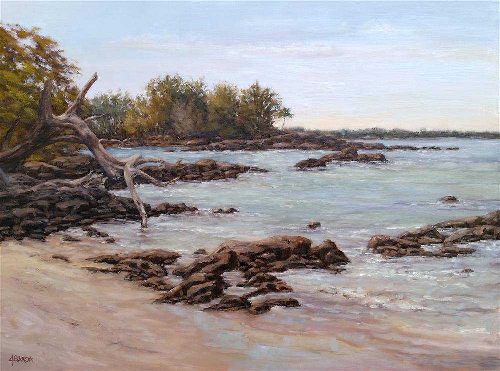 """Waialea Beach II"" original fine art by Jeannie Garcia"