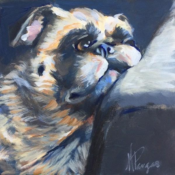 """Pug Ennui"" original fine art by Mary Pargas"