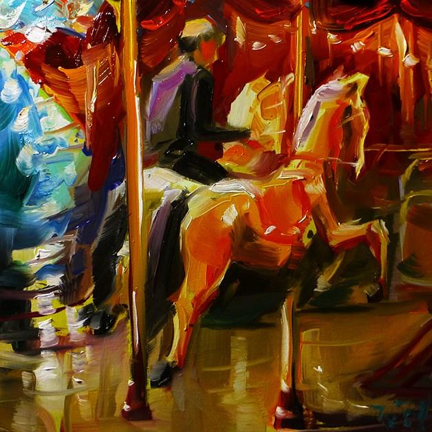 """""""Karussell"""" original fine art by Jurij Frey"""