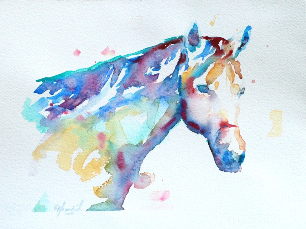 """the essence of a horse"" original fine art by Vicki Wood"