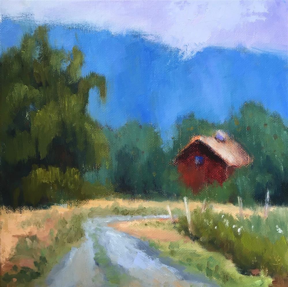 """""""Road to Sagnaw"""" original fine art by Victoria  Biedron"""