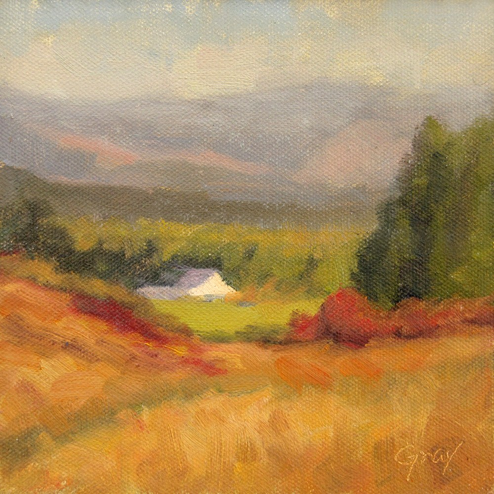 """Homestead in the Autumn Afternoon"" original fine art by Naomi Gray"