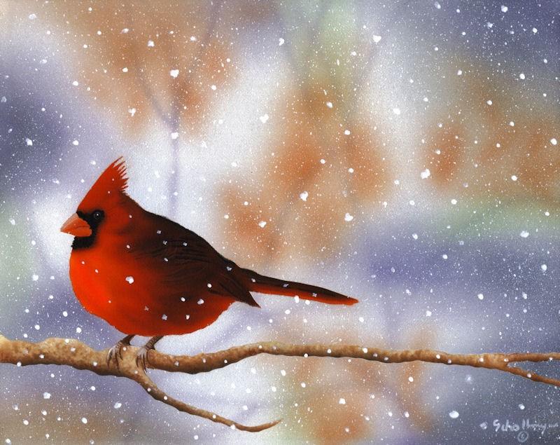 """Autumn Snowfall"" original fine art by Fred Schollmeyer"