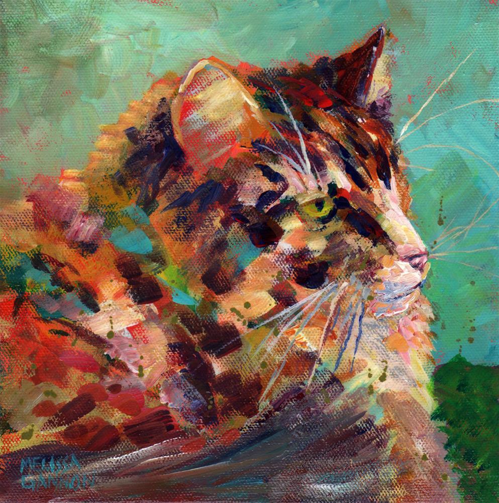 """Calico Glory"" original fine art by Melissa Gannon"