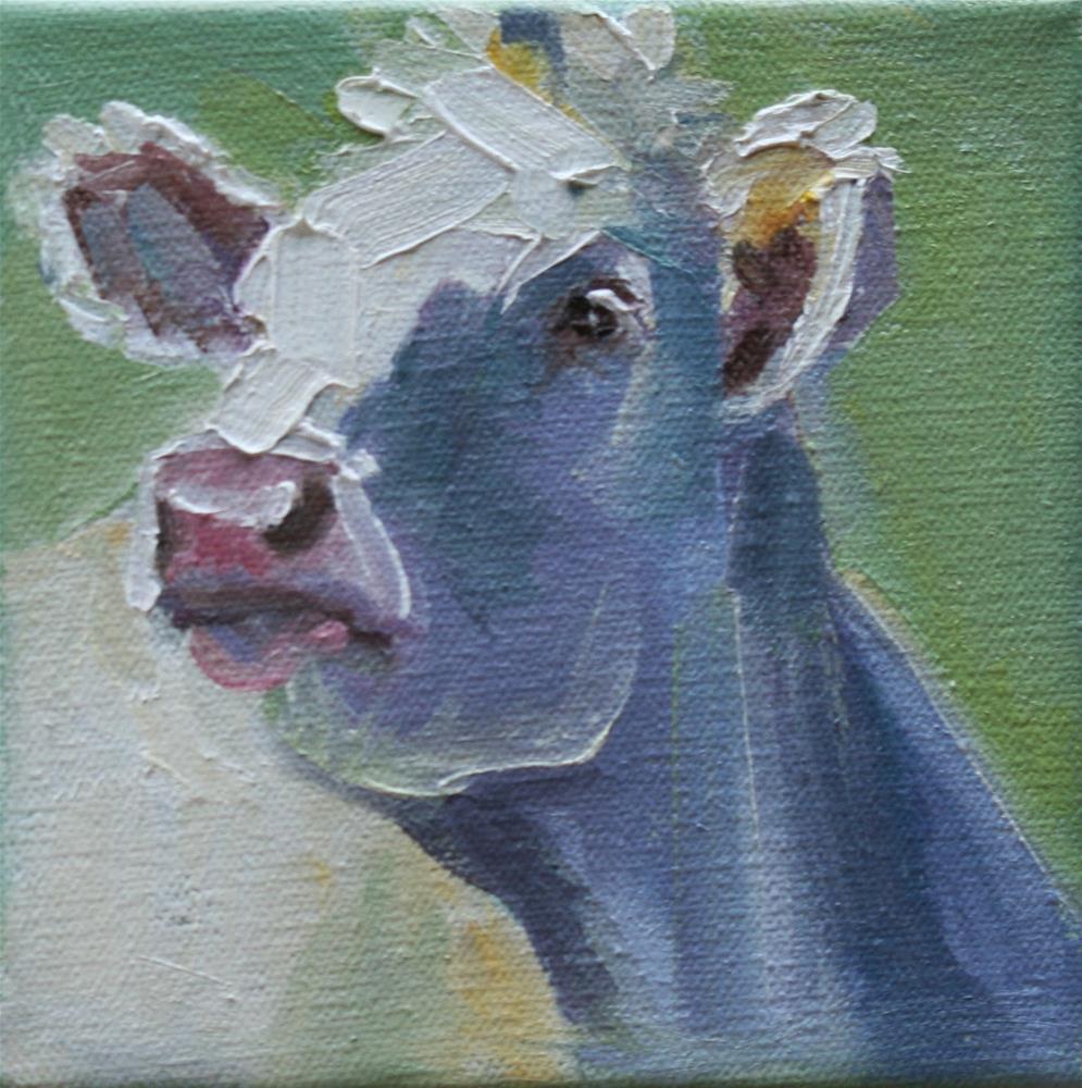 """""""cow do you do?"""" original fine art by Carol Carmichael"""
