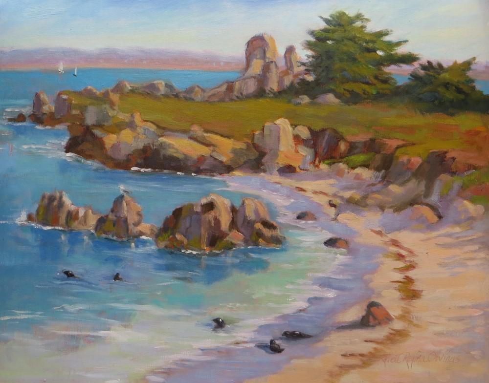 """A Beach for Seals"" original fine art by Rhett Regina Owings"