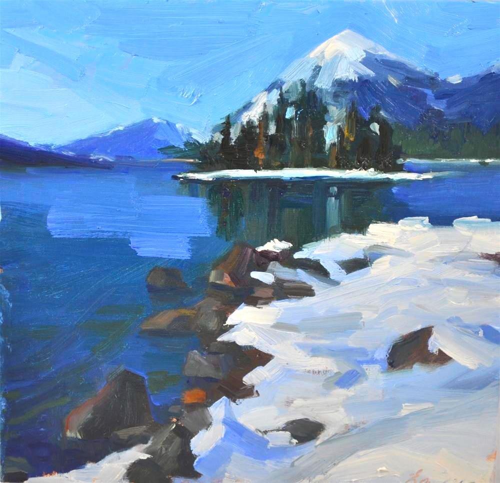 """""""Last Day of Winter oil on linen 10x10"""" original fine art by Emiliya Lane"""