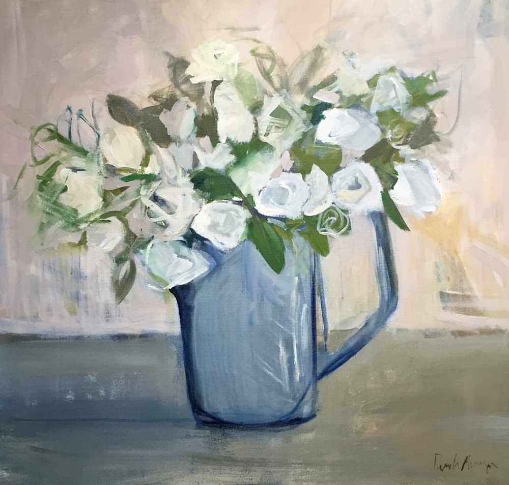 """Pitcher of White"" original fine art by Pamela Munger"