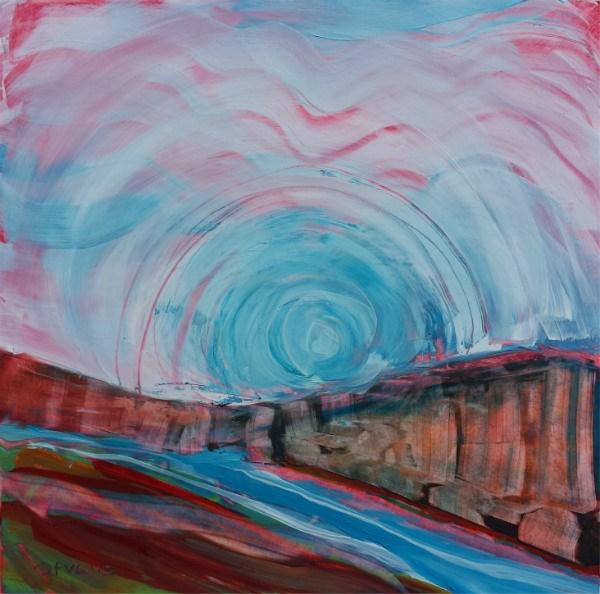 """Canyon Dream 37"" original fine art by Pam Van Londen"
