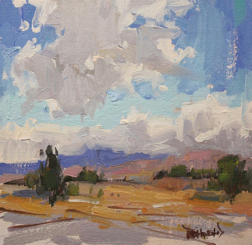 """New Mexico Skies"" original fine art by Cathleen Rehfeld"