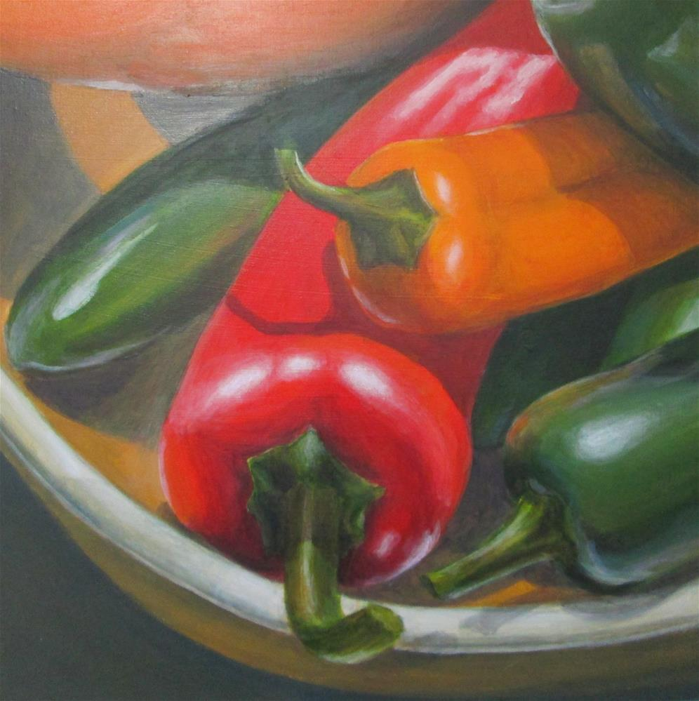 """""""Mixed Peppers"""" original fine art by Debbie Shirley"""