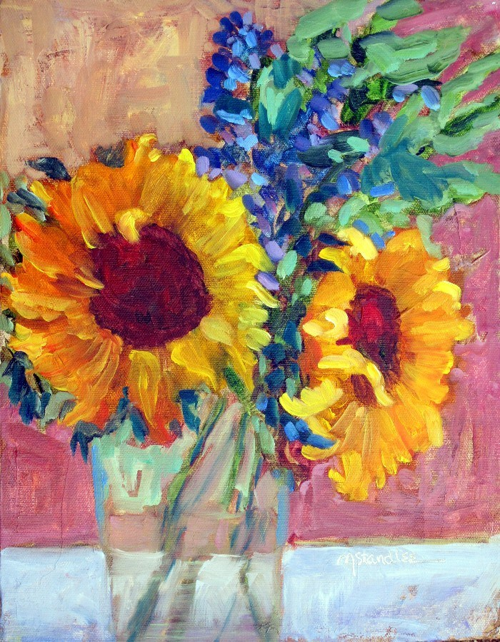 """Saturday Sunflowers, 12116 SOLD"" original fine art by Nancy Standlee"