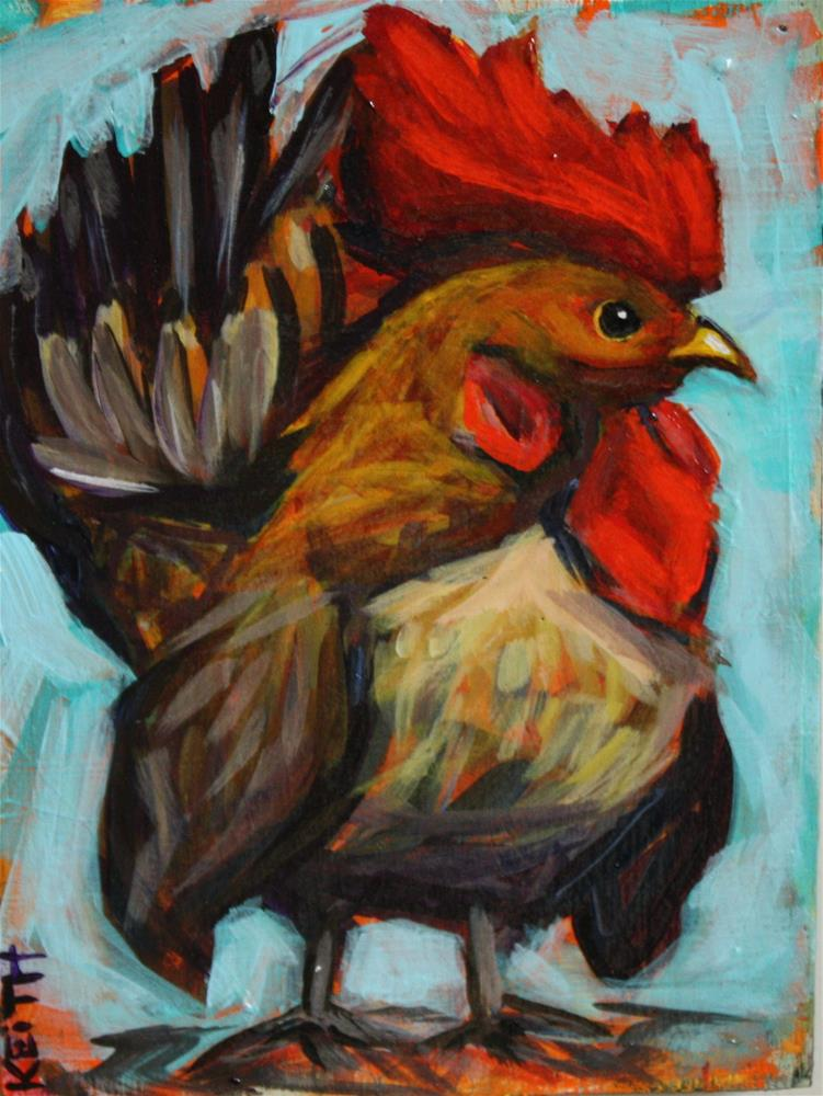 """""""Rooster"""" original fine art by Kandice Keith"""