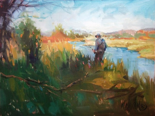 """O'Dell Spring Creek"" original fine art by Mary Maxam"