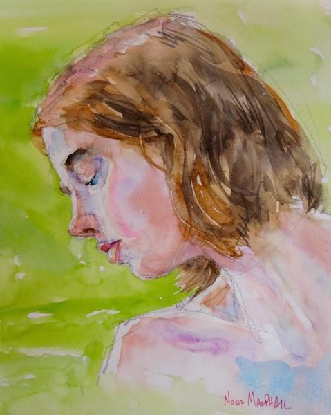 """orange glow"" original fine art by Nora MacPhail"