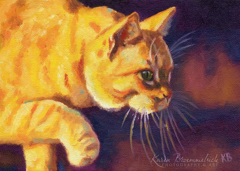 """On the Prowl"" original fine art by Karen Broemmelsick"