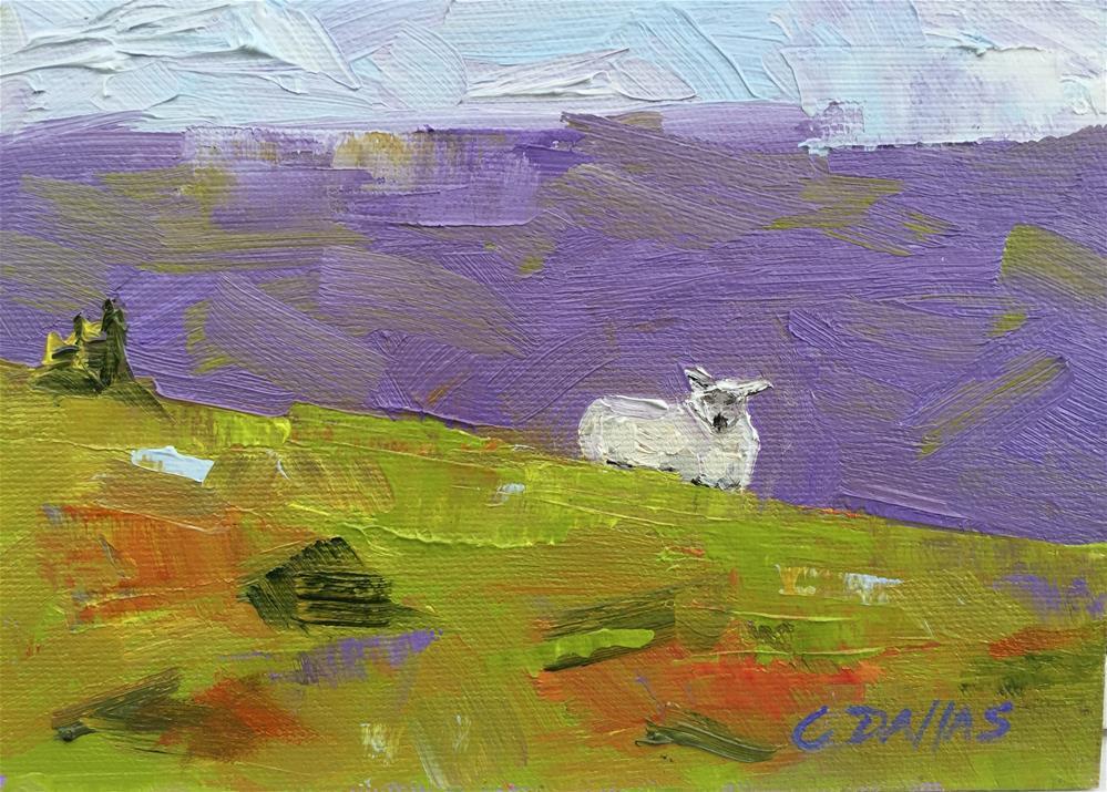 """The Sheep"" original fine art by Carol Dallas"