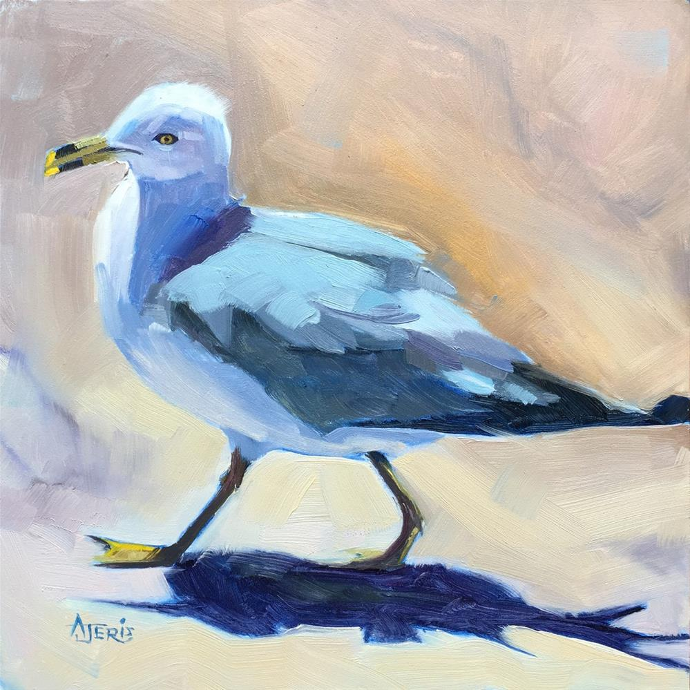 """""""I like long walks on the beach"""" original fine art by Andrea Jeris"""