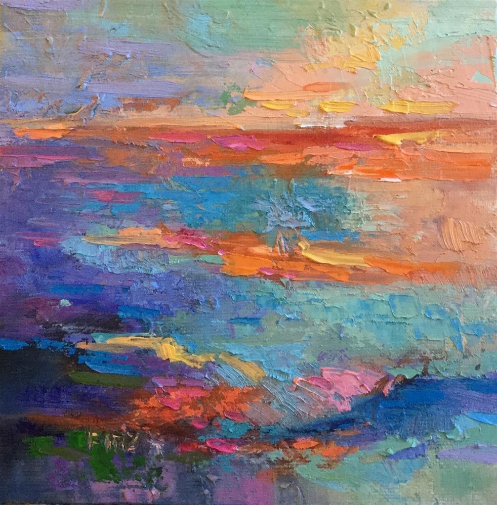 """Orange Horizon"" original fine art by Charlotte Fitzgerald"