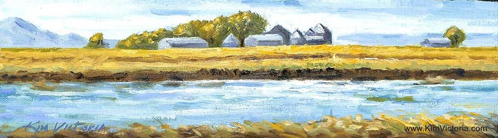 """Richvale Rice Farm in Winter"" original fine art by Kim Victoria"