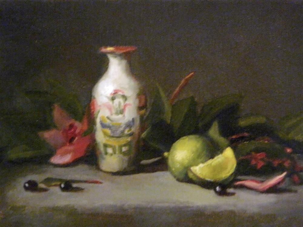 """Small Chinese with Lime"" original fine art by Susan Leider"