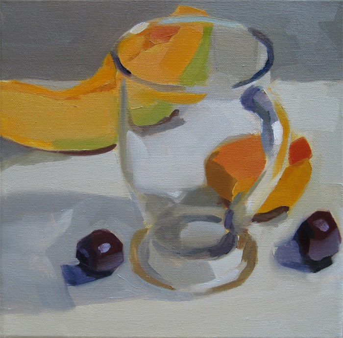 """""""Clear Glass and Fruit"""" original fine art by Robin Rosenthal"""