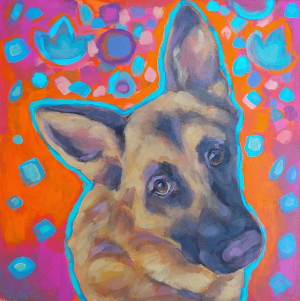 """Greman Shepherd"" original fine art by Kathy Hiserman"