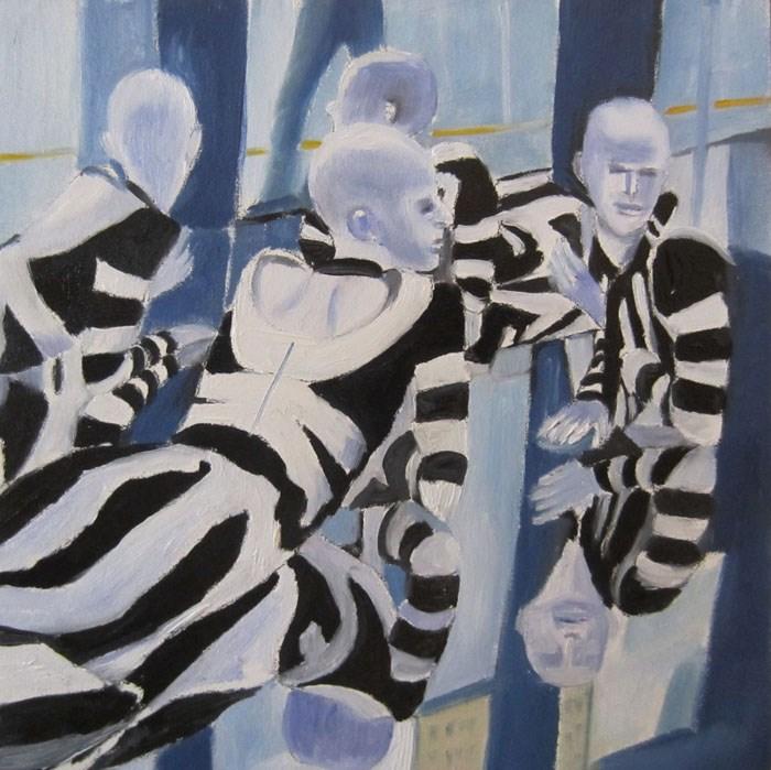 """Idle Conversation"" original fine art by Linda McCoy"
