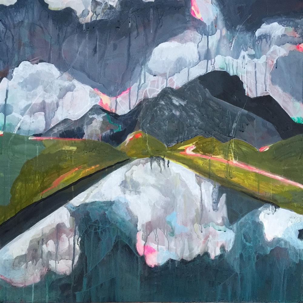 """""""175 Ice Lake"""" original fine art by Jenny Doh"""