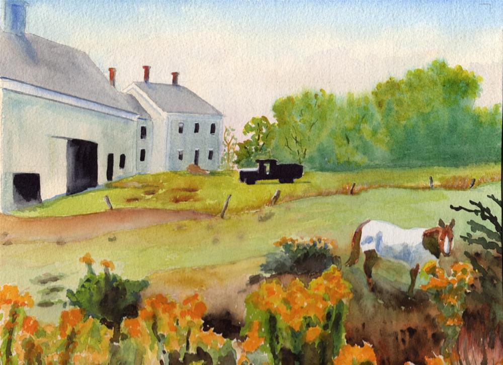"""""""Country scene"""" original fine art by Bunny Griffeth"""