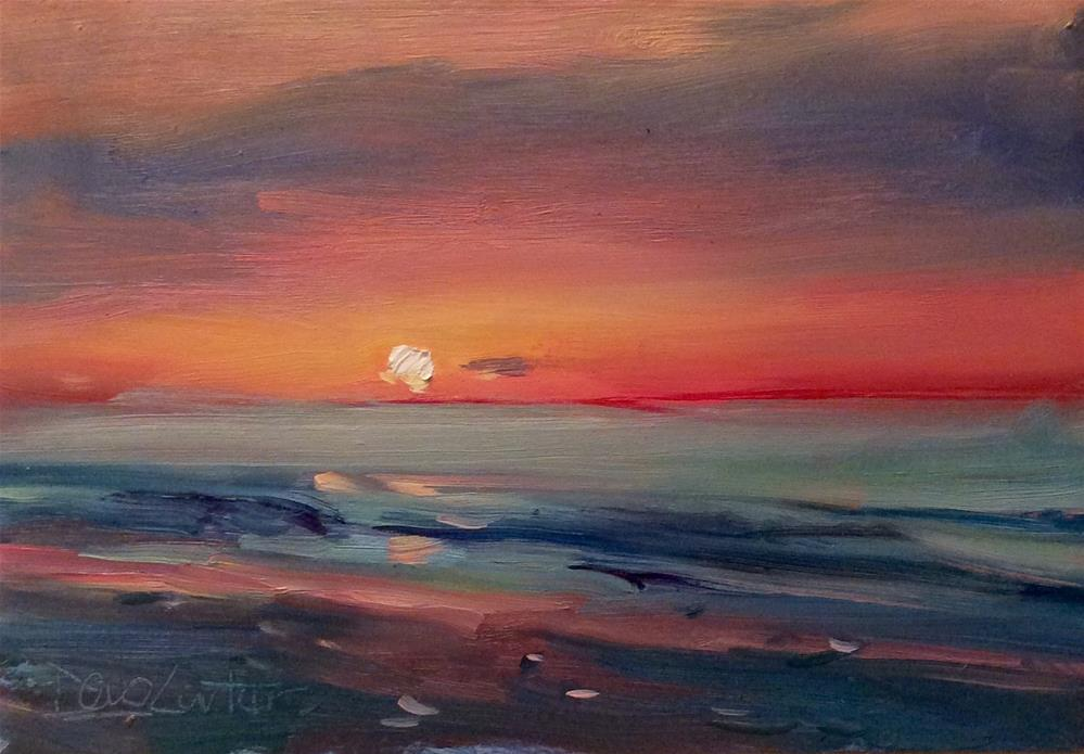 """OCEAN MOON"" original fine art by Doug Carter"