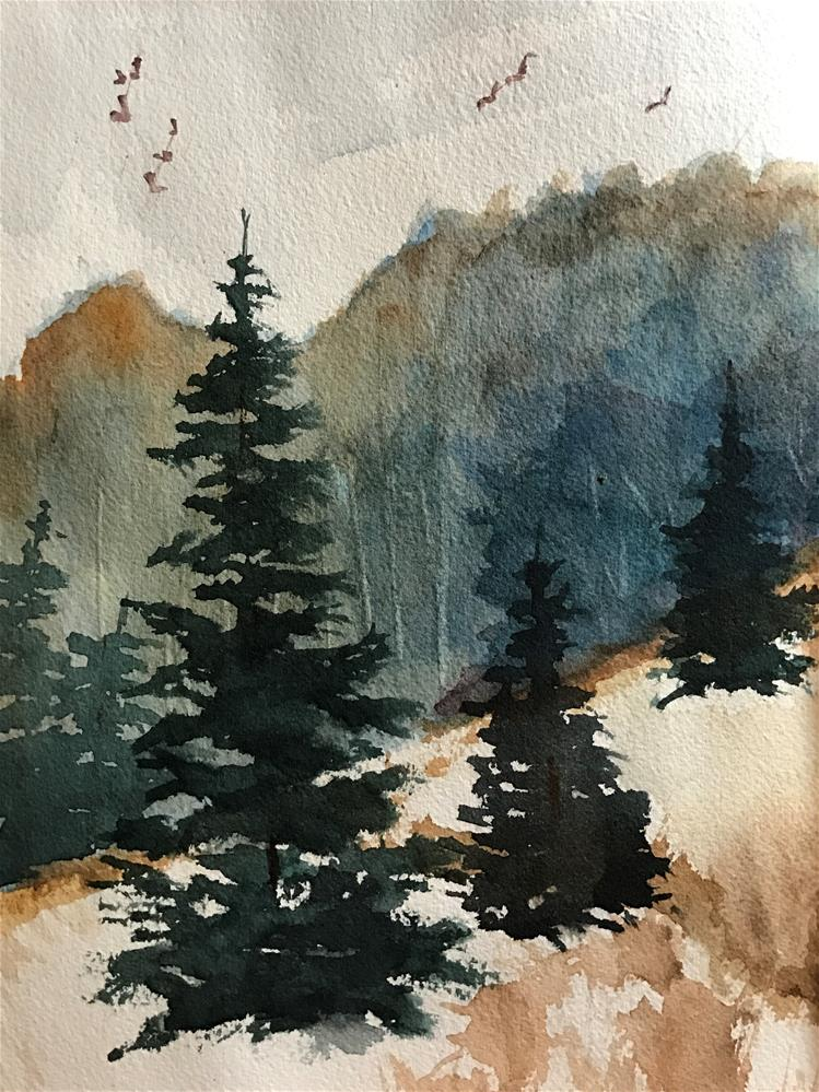 """three pines"" original fine art by Betty Argiros"