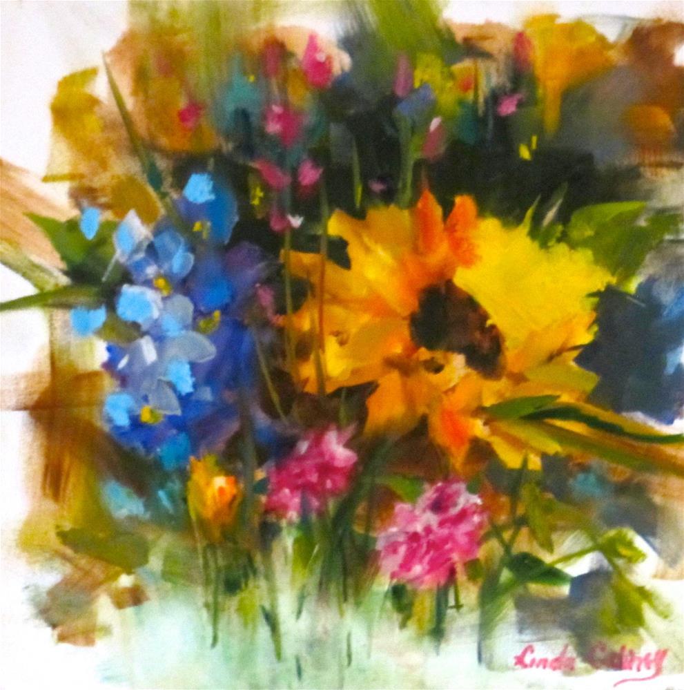 """Sunflower I"" original fine art by Linda Carney"