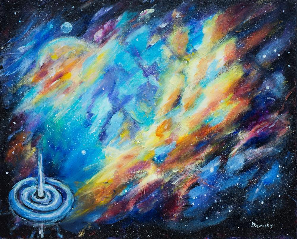 """Deep Space"" original fine art by Yulia Kazansky"