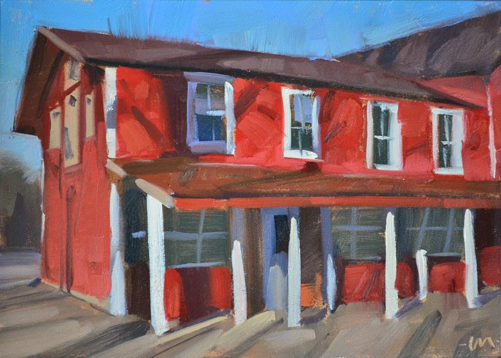 """Tree Shadow Stripes"" original fine art by Carol Marine"