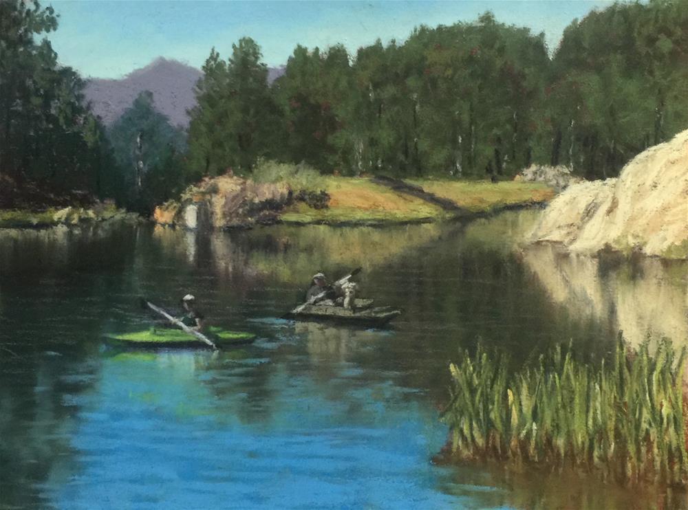 """The Tabors at Lake Bismarck"" original fine art by Marti Walker"
