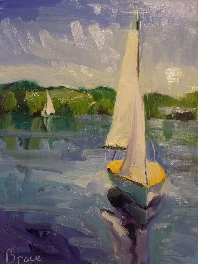 """Sail Study"" original fine art by Rita Brace"