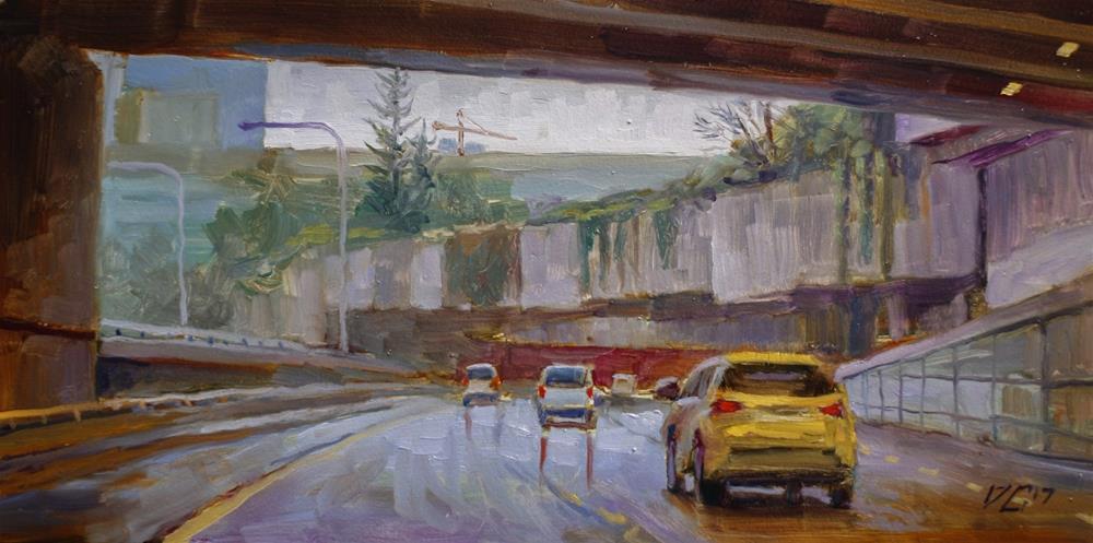 """""""Seattle Underpass № 3"""" original fine art by Dimitriy Gritsenko"""