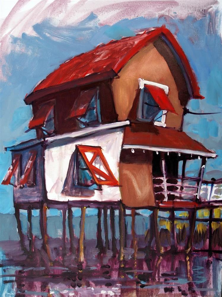 """The Stinton Ranch Dude, where are the cows?"" original fine art by Rick Nilson"