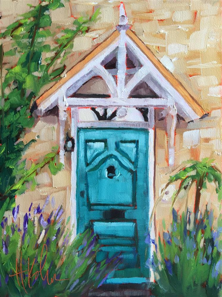 """English Door 1"" original fine art by Hallie Kohn"