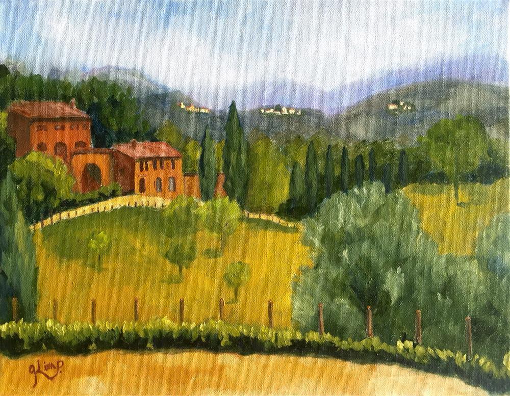 """Tuscany Landscape"" original fine art by Kim Peterson"