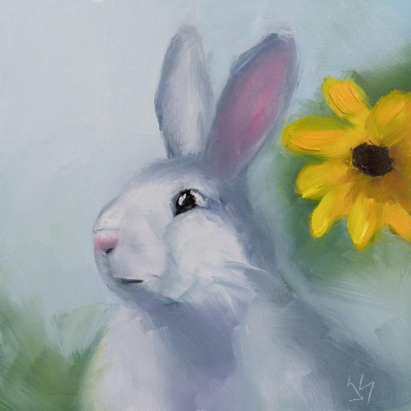 """""""Hop to It"""" original fine art by Johnna Schelling"""